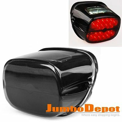 AU Smoke LED Taillight w/License Plate Lamp For Harley Road King FLHR Touring