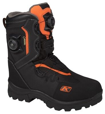 Klim Adrenaline GTX Boa Snowmobile Boots Orange Mens All Sizes