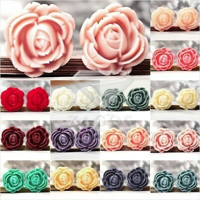 Vintage Cameo Resin Cabochons Rose Flowers Assorted Flatback 26.5x25mm Lots