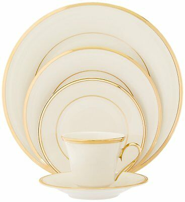 NEW Lenox Eternal Gold Banded Fine China 5 Piece Place Setting, Service for 1