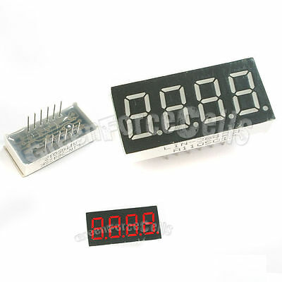 """10 0.36"""" 7 Segment Red LED Display 4 Digit Common Anode"""