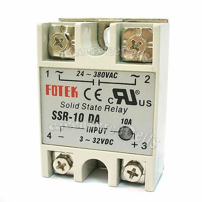 10 SSR-10DA Solid State Relay 10A Output 24V-380V For PID Temperature Controller