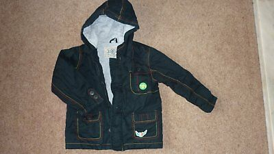 Ladybird parka coat dark blue age 3-4 years