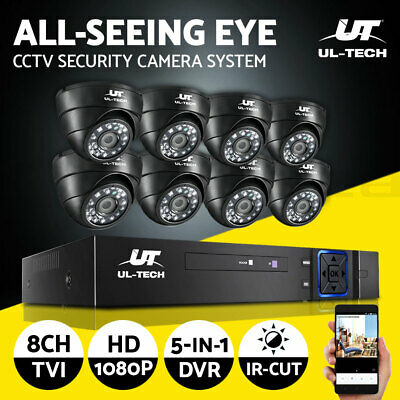 CCTV Security Camera 1080P HDMI 8CH DVR Video Home Outdoor IP System Hard Drive