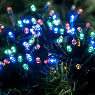 200 Multi Action Battery Operated Multi Colour LED Christmas Lights with Timer