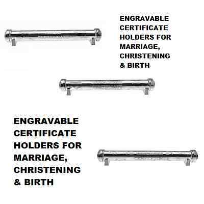 Certificate Holder, Scroll, Birth, Christening, Marriage With Free Engraving