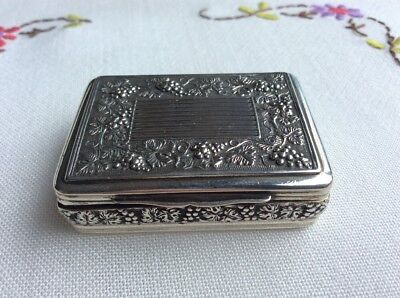 Fine Antique Solid Sterling Silver Snuff Box Case Birm Pemberton 1790