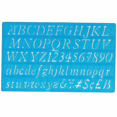 Italic Style Stencil Alphabet Numbers Letters A-Z 0-9