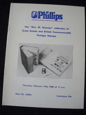 Phillips Auction Catalogue 1980 Great Britain And British Commonwealth