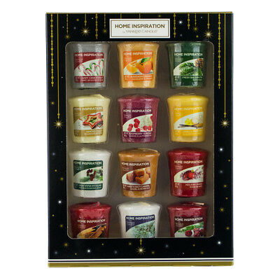 12 Pack Yankee Candle Home Inspiration Votive Candles Christmas Scents Gift Set