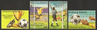 Antigua 1986 - Mi-Nr. 925-928 ** - MNH - Fußball / Soccer, football