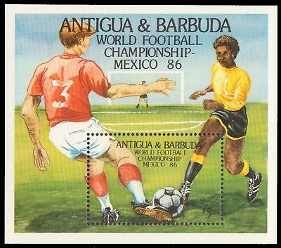 Antigua 1986 - Mi-Nr. Block 106 ** - MNH - Fußball / Soccer, football