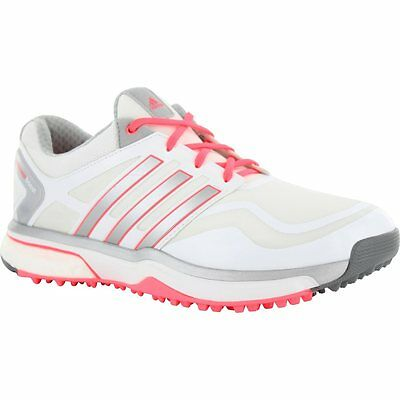 adidas Ladies adipower sport Boost Golf Shoes Q47018 Size 8 Medium White/Pink