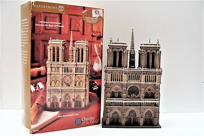 Department 56 Notre Dame Cathedral Paris Churches of the World 57601 with Box