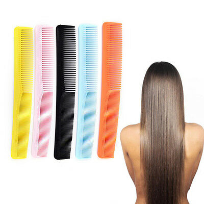 5x Salon Anti static Hairdressing Hair Cutting Plastic Comb fine tooth combToolD