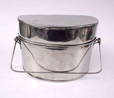 Revolutionary War Mess Kit w/Bale Handle - Stainless Steel - 3-Pieces - L@@K!