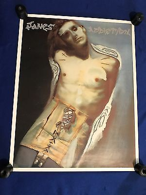 T vintage 1990's Janes Addiction ST Perry ART IMPORT POSTER 24x30in NICE!