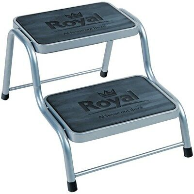 Royal 199200 Deluxe Double Level Caravan Step Steel Non Slip Rubber Tread