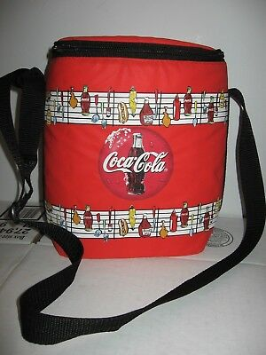 1997 COCO COLA soft side cooler picnic BBQ personal lunch bag adjustable strap