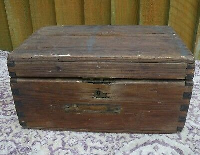 Antique Sailors Rustic Pine Ditty Box