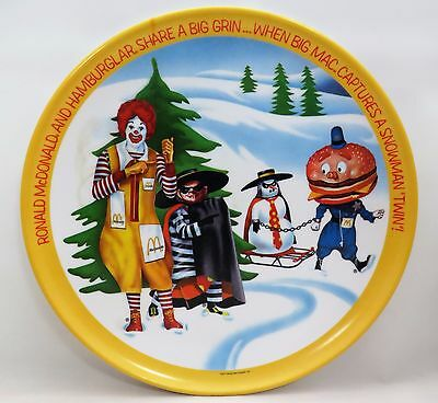 Vintage Collectible Ronald McDonald & Friends Winter Holidays 1977 Plate 10""