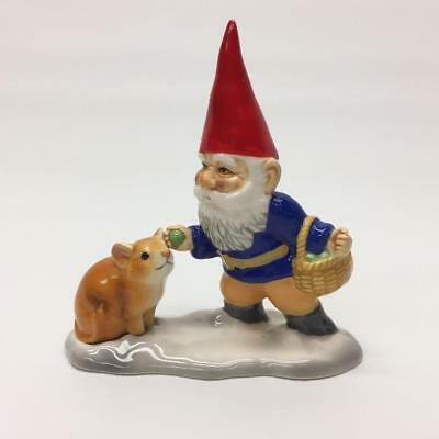 Unieboek Gorham Gnome Feeding Mouse Food For Thought Porcelain Figurine 1980