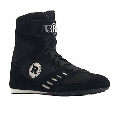 RINGSIDE POWER Boxing SHOES Low Top - Black - Size 7 Mens (9 Womens) BX2209B NEW