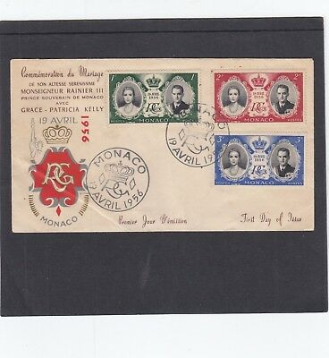 Monaco 1956 Royal Wedding Of Prince Ranier & Grace Kelly First Day Cover FDC