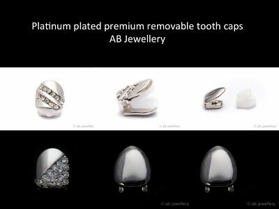 Removable silver plated tooth cap hip hop bling gangster teeth clip mens womens