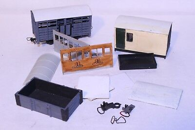 009/HOe Kit Built Wagons and Selection of Parts