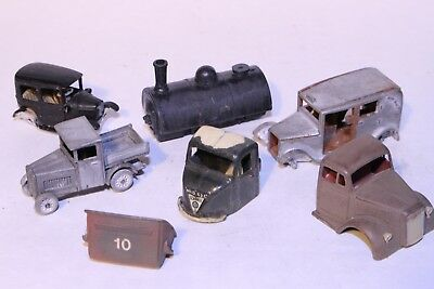 00 4mm Scale Car and Truck Parts --- White Metal & Plastic
