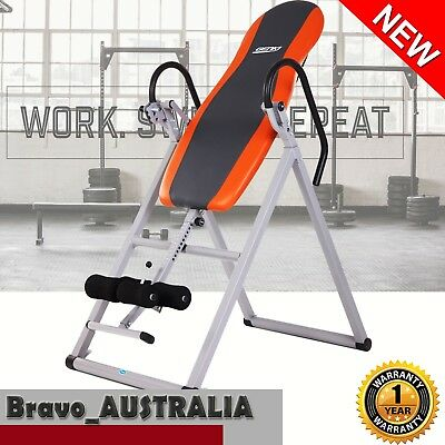 Gravity Inversion Table Folding Padded Upside Down Back Pain Exercise Home