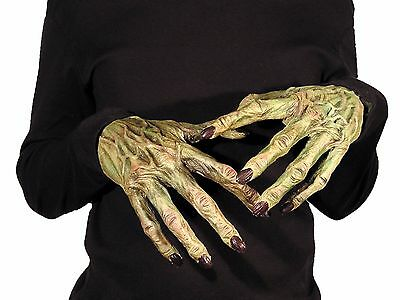 Scary Monster Hands Gloves 156003 Unique Creepy Latex Open Palm Costume