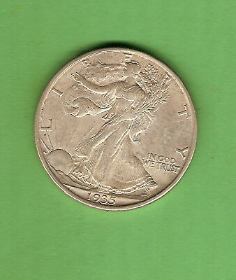 #d315.  Usa 1935 San  Francisco  Mint Silver Half  Dollar