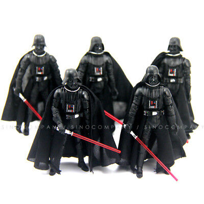 """Lot 5PCS Star Wars 2005 Darth Vader Revenge Of The Sith 3.75"""" Action Figure Doll"""