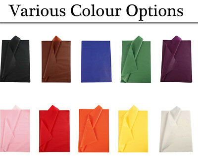 25 Full Sheets No Folds Tissue Paper - Choice of Colour