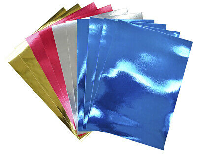 50 A4 Foil Card Sheets for Kids Crafts   Coloured Card for Crafts