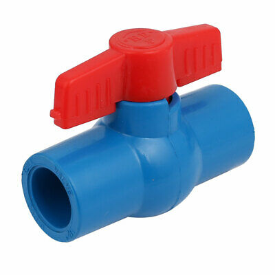 Water Pipe Plastic Straight Ball Valve Connector for 20mm Dia Tube