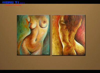 MODERN Body Art ABSTRACT OIL PAINTING on Canvas Living Room Wall Art Decor oil69