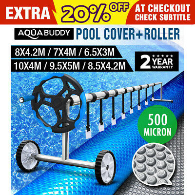Solar Swimming Pool Cover Roller 500 Micron Bubble Blanket 6 SIZES 2 YR WRTY