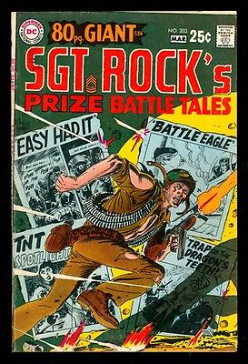 Our Army At War 203 5.0 Vgf 1969 Dc Joe Kubert Sgt Rock Haunted Tank Mlle Marie