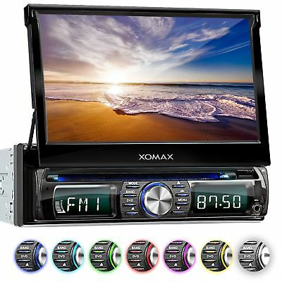"AUTORADIO DVD CD BLUETOOTH 7""18cm TOUCHSCREEN DISPLAY USB+SD=256GB MP3 AUX 1DIN"