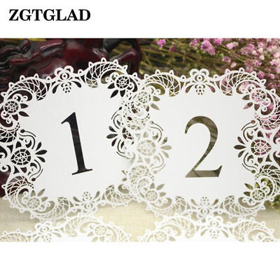 10pcs Ivory Place Card Holder Rustic Lace Wedding Table Number Cards Vintage Qty