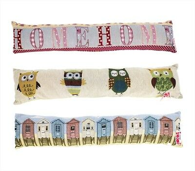 Draught Excluder Cushion Door Patterned Fabric Home Draught Stopper Proofing