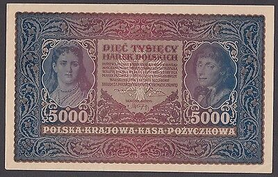 5000 Polskich From Poland 1920 A6 Aunc
