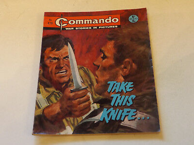 Commando War Comic Number 479,1970 Issue,good For Age,47 Years Old,very Rare.