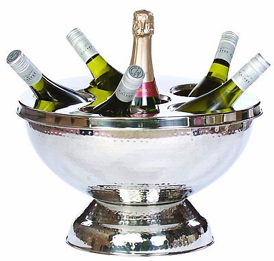 Epicurean Polished Stainless Steel 6 Bottle Wine Champagne Cooler Ice Buccket