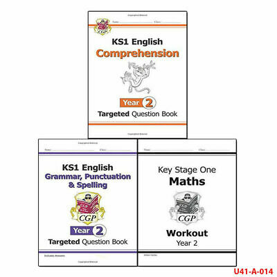 CGP Books KS1 New Curriculum Year 2 Collection 3 Books Set English Comprehension