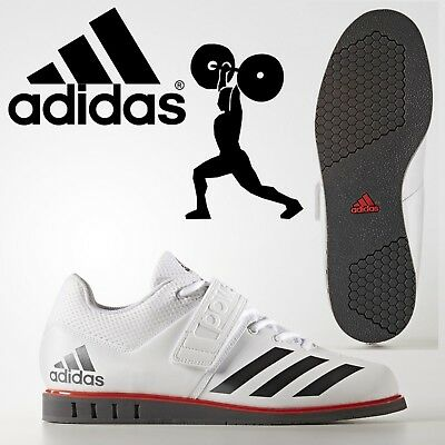 adidas Powerlift 3.1 Weightlifting Shoes Mens White Power Lifting Gym Trainers