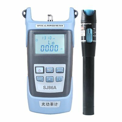 5Km Fiber Optic Test Instrument+Locator Pen Proofread Function 7 Wavelengths TO